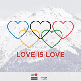 Love is Love Olympic Games share graphic