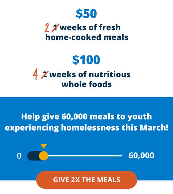 Graphic from the March Meal Match campaign